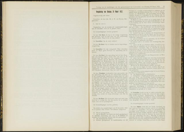 Raadsverslagen van de gemeente Leeuwarden, 1865-2007 (Notulen) 1922-03-28