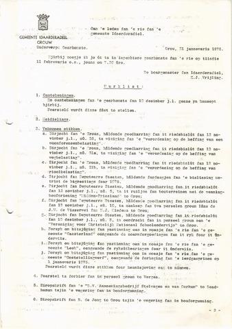 raadsverslagen Idaarderadeel 1935-1983 1975