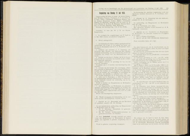 Raadsverslagen van de gemeente Leeuwarden, 1865-2007 (Notulen) 1926-07-13