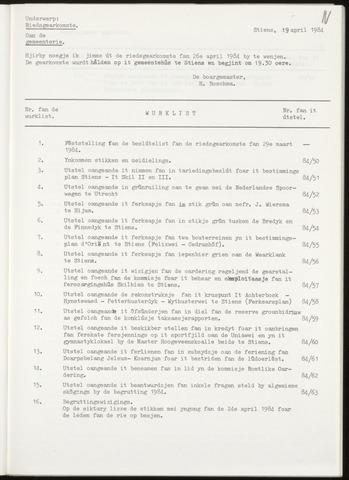 Notulen van de gemeenteraad van Leeuwarderadeel 1984-04-26