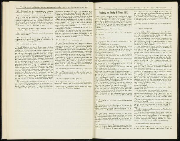 Raadsverslagen van de gemeente Leeuwarden, 1865-2007 (Notulen) 1932-02-09