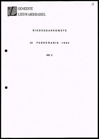 Notulen van de gemeenteraad van Leeuwarderadeel 1995-02-23