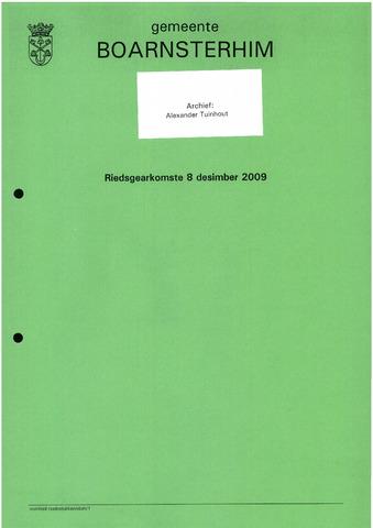 Boarnsterhim vergaderstukken gemeenteraad  2009-12-08
