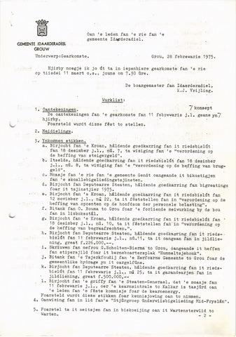 raadsverslagen Idaarderadeel 1935-1983 1975-03-11