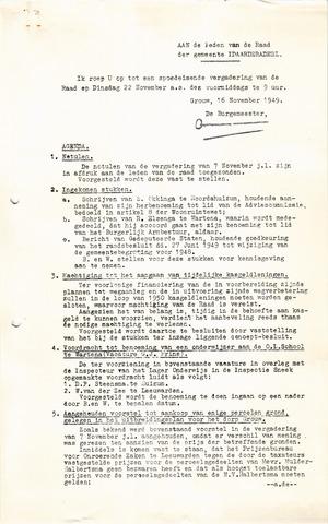 raadsverslagen Idaarderadeel 1935-1983 1949-11-22