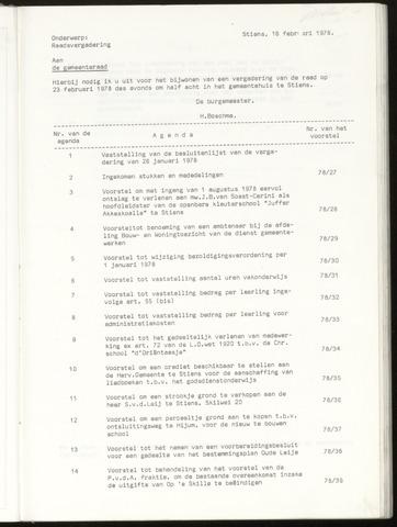 Notulen van de gemeenteraad van Leeuwarderadeel 1978-02-23