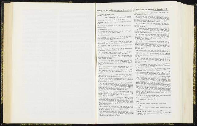 Raadsverslagen van de gemeente Leeuwarden, 1865-2007 (Notulen) 1962-12-12