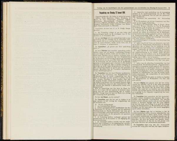 Raadsverslagen van de gemeente Leeuwarden, 1865-2007 (Notulen) 1918-01-22