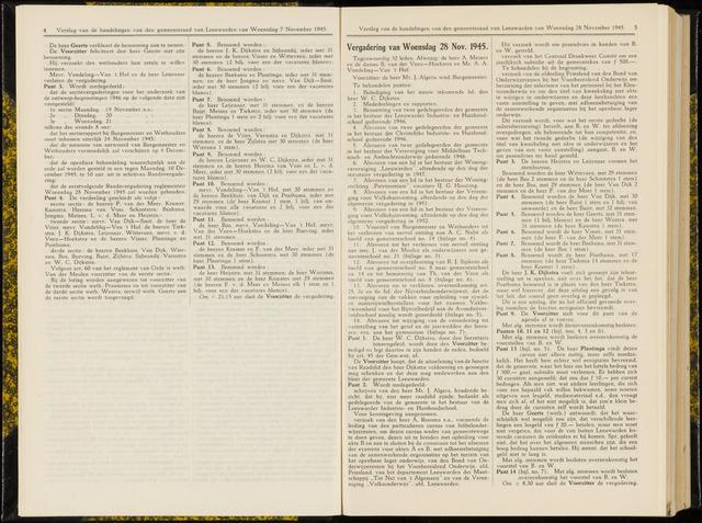 Raadsverslagen van de gemeente Leeuwarden, 1865-2007 (Notulen) 1945-11-28