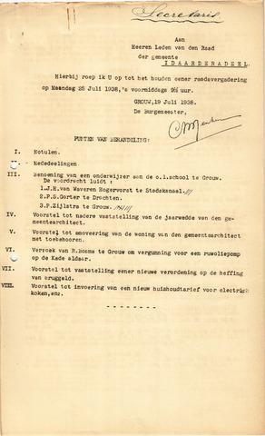 raadsverslagen Idaarderadeel 1935-1983 1938-07-25