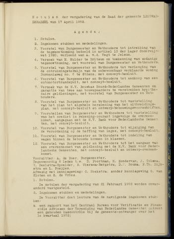 Notulen van de gemeenteraad van Leeuwarderadeel 1952-04-17