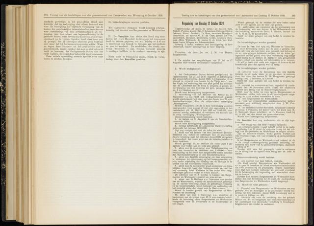 Raadsverslagen van de gemeente Leeuwarden, 1865-2007 (Notulen) 1920-10-12