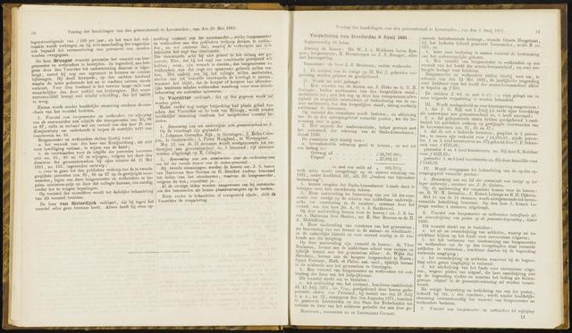 Raadsverslagen van de gemeente Leeuwarden, 1865-2007 (Notulen) 1881-06-09