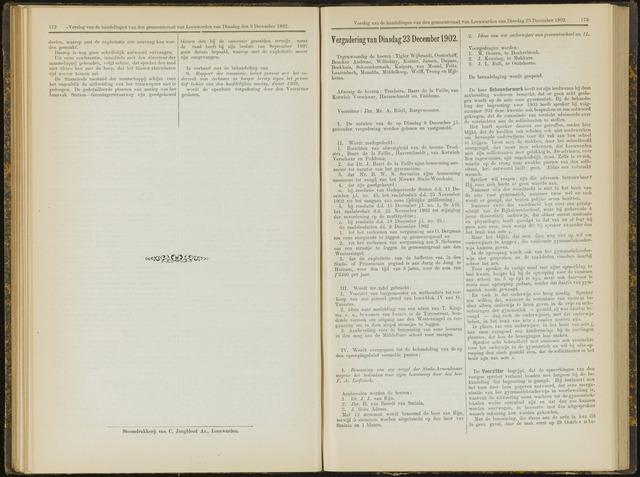 Raadsverslagen van de gemeente Leeuwarden, 1865-2007 (Notulen) 1902-12-23