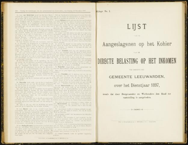 Raadsverslagen van de gemeente Leeuwarden, 1865-2007 (Bijlagen) 1897-01-01
