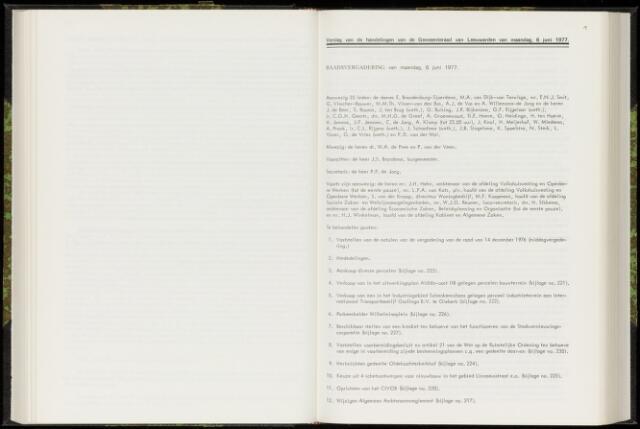 Raadsverslagen van de gemeente Leeuwarden, 1865-2007 (Notulen) 1977-06-06