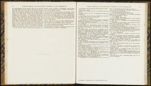 Raadsverslagen van de gemeente Leeuwarden, 1865-2007 (Notulen) 1878-02-28