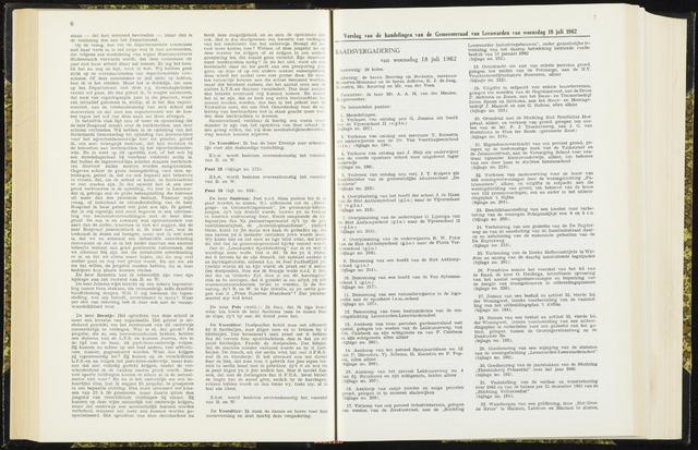 Raadsverslagen van de gemeente Leeuwarden, 1865-2007 (Notulen) 1962-07-18