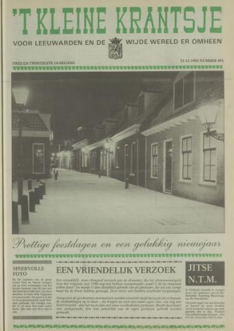 't Kleine Krantsje, 1964-1997 1985-12-21
