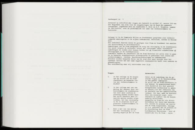 Raadsverslagen van de gemeente Leeuwarden, 1865-2007 (Schriftelijke vragen) 1992