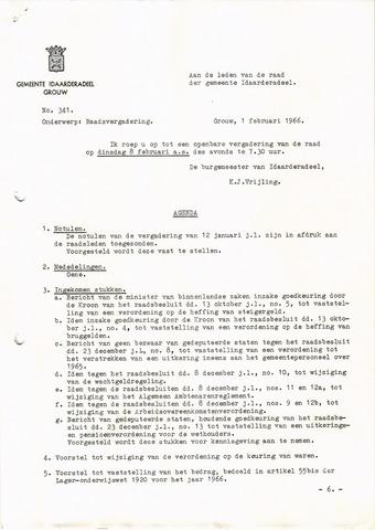 raadsverslagen Idaarderadeel 1935-1983 1966-02-08