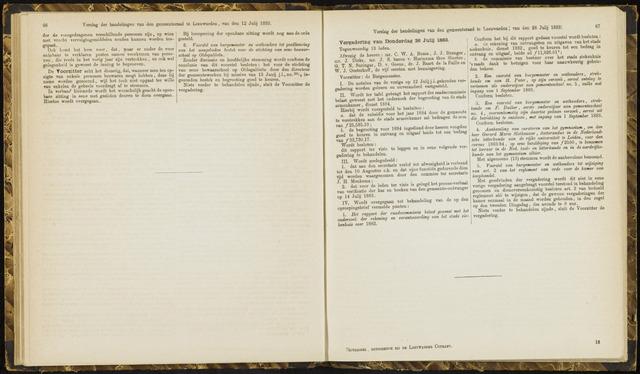 Raadsverslagen van de gemeente Leeuwarden, 1865-2007 (Notulen) 1883-07-26