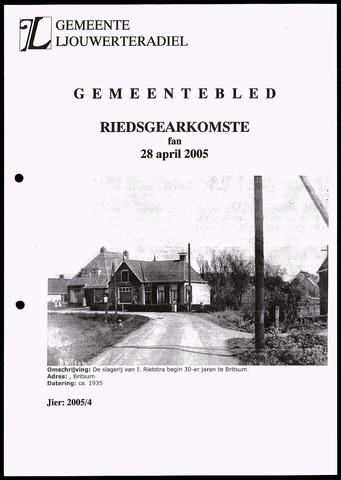 Notulen van de gemeenteraad van Leeuwarderadeel 2005-04-28