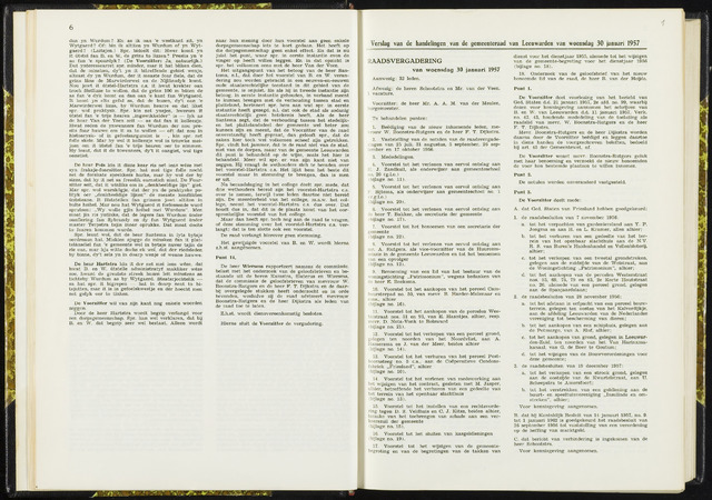 Raadsverslagen van de gemeente Leeuwarden, 1865-2007 (Notulen) 1957-01-30