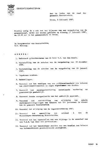 Boarnsterhim vergaderstukken gemeenteraad  1987-02-17