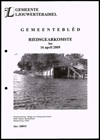 Notulen van de gemeenteraad van Leeuwarderadeel 2009-04-16
