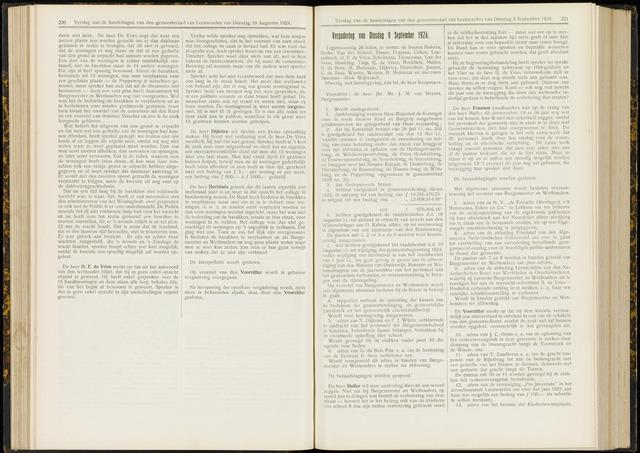Raadsverslagen van de gemeente Leeuwarden, 1865-2007 (Notulen) 1924-09-09