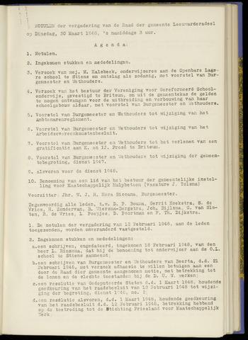 Notulen van de gemeenteraad van Leeuwarderadeel 1948-03-30
