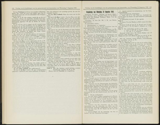 Raadsverslagen van de gemeente Leeuwarden, 1865-2007 (Notulen) 1940-08-28