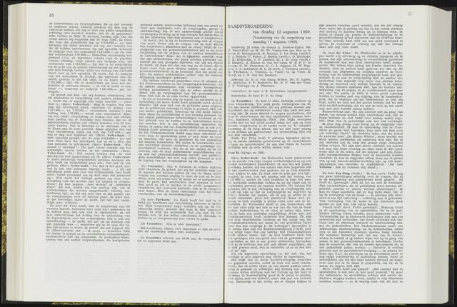 Raadsverslagen van de gemeente Leeuwarden, 1865-2007 (Notulen) 1969-08-12