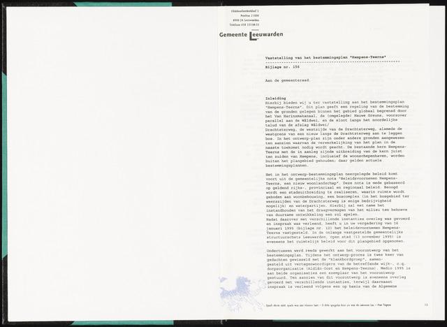 Raadsverslagen van de gemeente Leeuwarden, 1865-2007 (Bijlagen) 1996-01-01