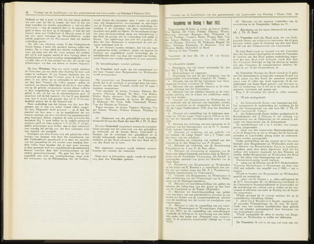 Raadsverslagen van de gemeente Leeuwarden, 1865-2007 (Notulen) 1932-03-01