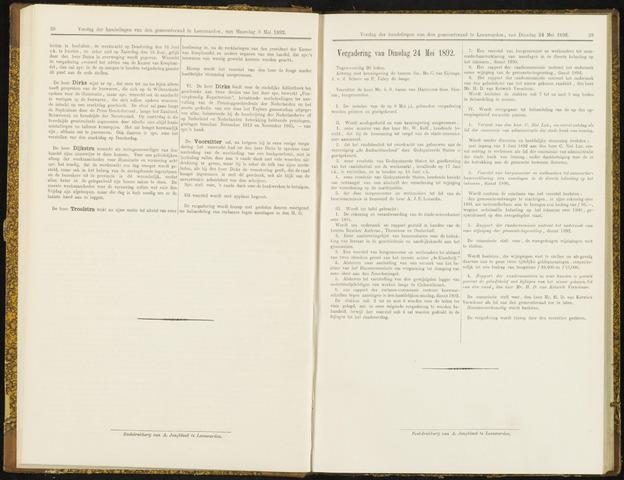 Raadsverslagen van de gemeente Leeuwarden, 1865-2007 (Notulen) 1892-05-24