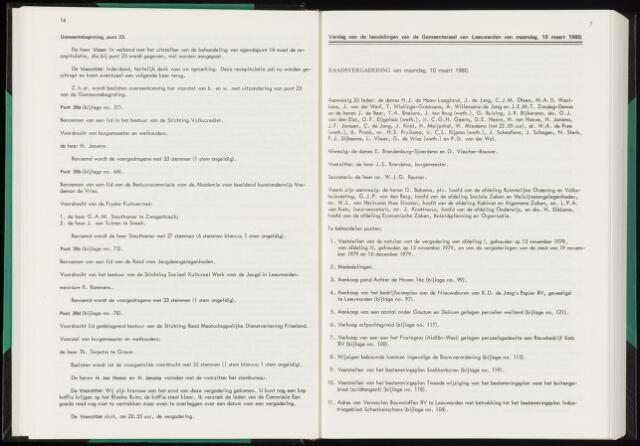 Raadsverslagen van de gemeente Leeuwarden, 1865-2007 (Notulen) 1980-03-10
