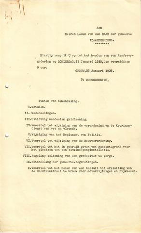 raadsverslagen Idaarderadeel 1935-1983 1935-01-31