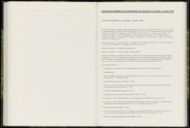 Raadsverslagen van de gemeente Leeuwarden, 1865-2007 (Notulen) 1978-08-07