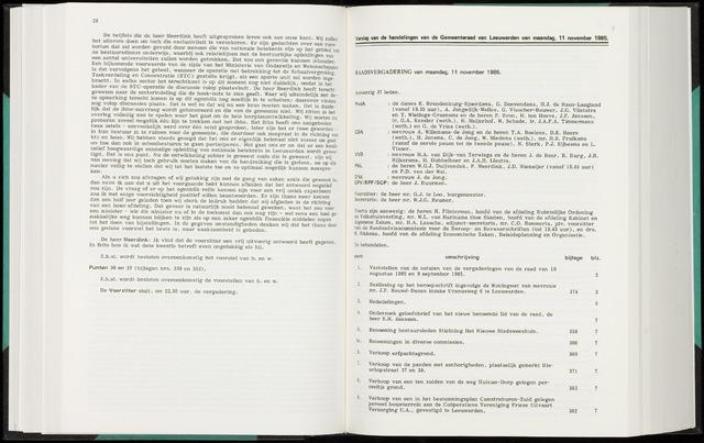 Raadsverslagen van de gemeente Leeuwarden, 1865-2007 (Notulen) 1985-11-11