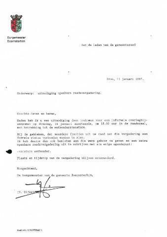Boarnsterhim vergaderstukken gemeenteraad  1997-01-14