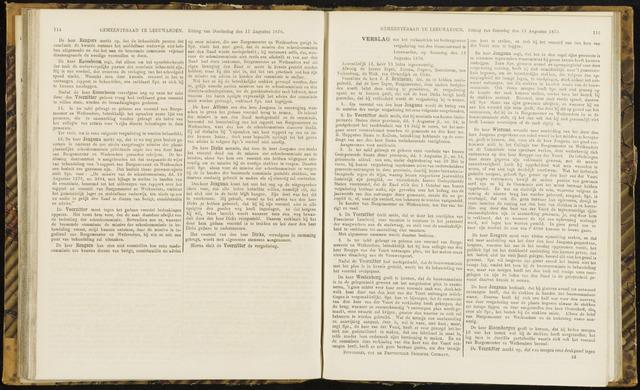 Raadsverslagen van de gemeente Leeuwarden, 1865-2007 (Notulen) 1870-08-13
