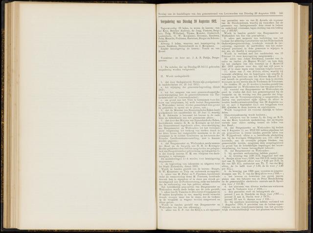 Raadsverslagen van de gemeente Leeuwarden, 1865-2007 (Notulen) 1912-08-20