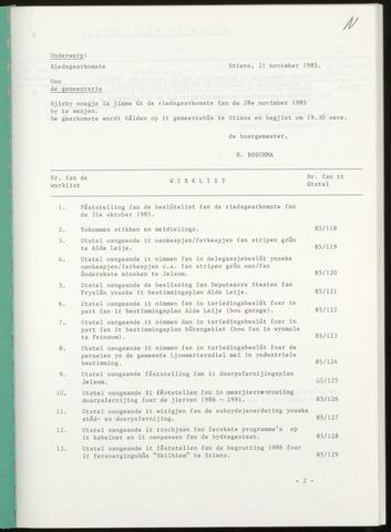Notulen van de gemeenteraad van Leeuwarderadeel 1985-11-28