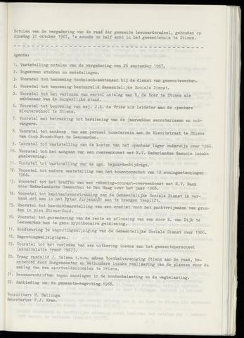 Notulen van de gemeenteraad van Leeuwarderadeel 1967-10-31