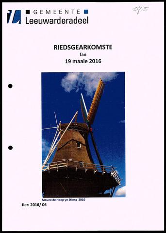 Notulen van de gemeenteraad van Leeuwarderadeel 2016-05-19