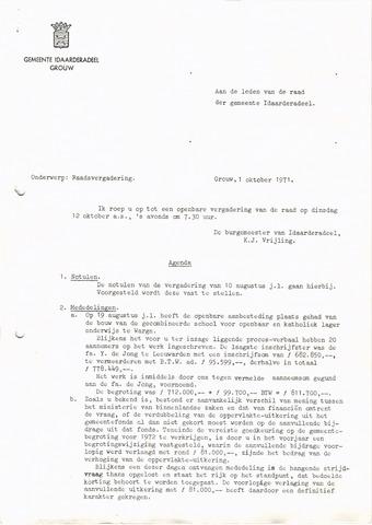 raadsverslagen Idaarderadeel 1935-1983 1971-10-12