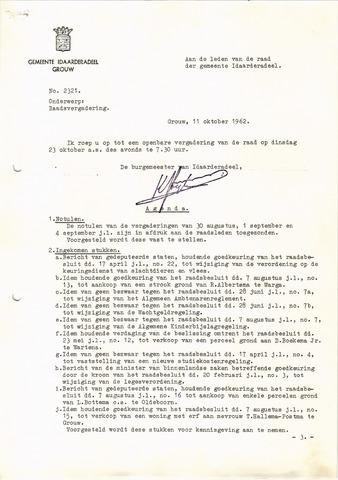 raadsverslagen Idaarderadeel 1935-1983 1962-10-23