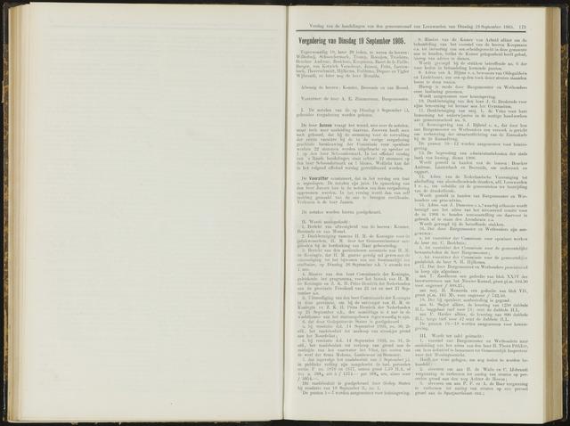 Raadsverslagen van de gemeente Leeuwarden, 1865-2007 (Notulen) 1905-09-19